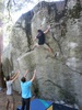 yosemite, bouldering this time. the force / the farce v9, camp 4